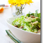 Caesar Salad with Pine Nuts and Cashews