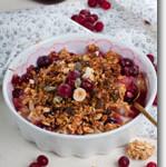 Gluten Free Vegan Cranberry-Walnut Granola