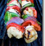 Grilled Vegan Chicken Kabobs