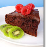 Vegan Chocolate Cake with Orange Chocolate Frosting