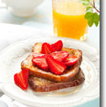 Vegan Strawberry French Toast